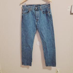 Levi's 501's Button fly light blue classic jeans